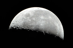 Moon Shot (georg.schmidt) Tags: light shadow moon canon silver astro crescent craters telescope astrophotography moonlight astronomy newton moonshot cratersofthemoon sliverlight eos7d newtonreflector ret45