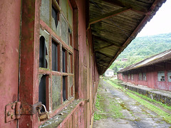 Abandoned Storehouses (Diego3336) Tags: old windows brazil english heritage abandoned broken window latinamerica southamerica fog brasil track saopaulo lock decay brokenglass foggy tracks rail railway warehouse rails british padlock locked storehouse warehouses paranapiacaba santoandré storehouses britishheritage