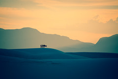 Photo shoot in the distance at White Sands (photographer {different}) Tags: mountains newmexico nikon desert whitesands sandy sunsets americanflag patriotic american nationalparks photoshoots d600 nikond600