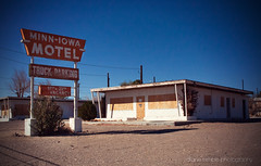 the minn-iowa motel (Diane Trimble --- dianemariet) Tags: rlb abandonedmotel oldsigns barstowcalifornia oldmotel vintagemotelsigns minniowamotel