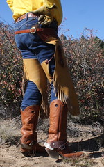 BOOTS N SPURS (AZ CHAPS) Tags: ranch spurs cowboy boots wranglers gloves chinks