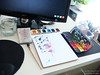 On My Desk ... While I should have been working... (EZENAMI | KAI | ZAN57) Tags: watercolor studio mydesk omd artsupplies paintbox sketchkit
