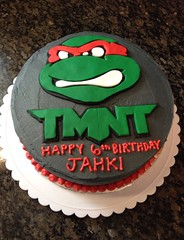 Teenage Mutant Ninja Turtles Cake by Amanda, Raleigh Durham NC, www.birthdaycakes4free.com