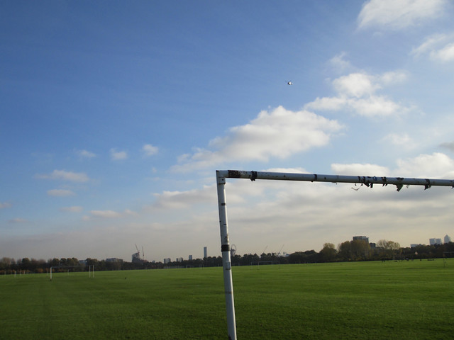 Hackney Marshes goal post