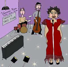 Feelin' jazzy (ladybumblebee) Tags: art illustration drawing whimsical
