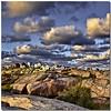 Last northern light (Nespyxel) Tags: light sky clouds landscape rocks nuvole village sweden north cielo northern paesaggio svezia roccie bohuslan fiordi smogen vastragotaland nespyxel stefanoscarselli