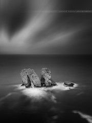[ Explore ] B&W on Los Urros ... ( Liencres, Cantabria - Spain ) (Yannick Lefevre) Tags: ocean longexposure bw seascape monochrome photoshop landscape spain nikon rocks raw nef tripod paysage cantabria manfrotto hoya d800 ndfilter nd400 liencres sigma1020 poselongue nikoncapturenx ndx400 capturenx2 losurros yllogo yannicklefevre||photography