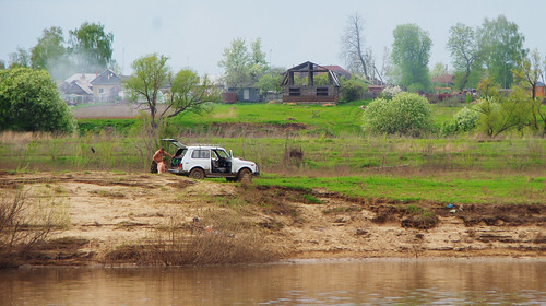 VAZ-2121 Niva at Oka river