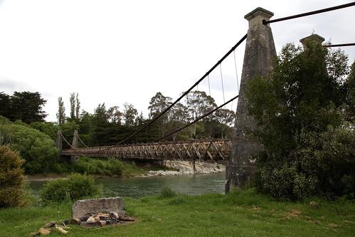 Clifden Suspension Bridge, Waiau River