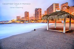 December Days in Monaco (DanielWaschnigPhotography) Tags: ocean city blue winter urban france color beach water beautiful night buildings wonderful french landscape cotedazur riviera purple image vibrant awesome great scenic calm montecarlo monaco sdfrankreich alpesmaritimes klagenfurt southfrance
