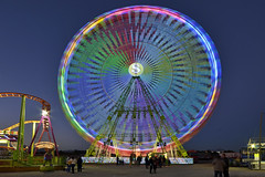 Colours! (Fotomondeo) Tags: espaa valencia atardecer lights evening luces spain nikon feria fair alicante bluehour bigwheel noria sigma1020mm horaazul feriadenavidad nikond7000