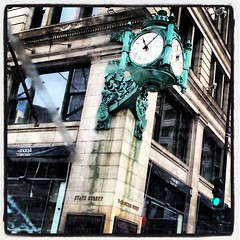 Once.  They called you Marshall Fields. (Fogel's Focus) Tags: chicago clock square lofi squareformat marshallfields statestree iphoneography instagramapp