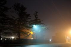 Foggy Parking Lot. (DigitalCanvas72) Tags: mist fog night landscape photography lights nikon foggy d90