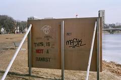Back of Sign (bmiller128) Tags: film massachusetts cambridgema cambridgeport leicam3 kodakportra160 canon50mmf18ltm