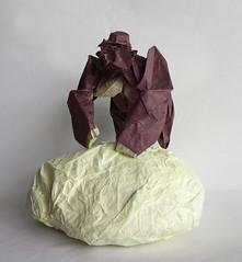 Gorilla By Nguyen Huong Cuong, folded by me (Shikigami no Mai) Tags: origami gorilla huong nguyen cuong nguyenhungcuong