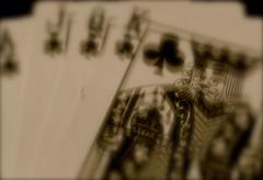 King of Haze (laufar1) Tags: jack cards king hand ace queen blackjack blurryeyed