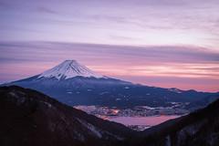 Long Cold Winter (Yuga Kurita) Tags: sunset lake japan landscape fuji dusk sigma mount mountfuji fujisan 夕景 夕暮れ 富士山 mtfuji yamanashi merrill kawaguchiko fujiyama foveon 河口湖 山梨 dp2 富士 薄紫 フォビオン