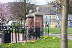 Park gates (L. McG.-E.) Tags: southwales spring streetphotography risca tredegarpark