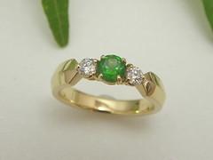 デマントイドガーネットの指輪 デマントイドガーネットの指輪 Demantoid Garnet Ring (jewelrycraft.kokura) Tags: 18k yellowgold ダイヤモンド demantoid ダイヤ イエローゴールド