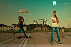 Jump (Francesco Carta) Tags: life street sky woman umbrella portraits photography nikon play parking lifestyle teen concept d300 17mm teanager francescocarta