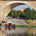 Rivière Dordogne et une gabare à bergerac
