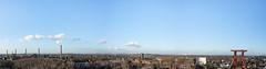 Zeche Zollverein (brummeldennis) Tags: pictures sky panorama clouds germany landscape deutschland essen nikon stitch pano himmel wolken tokina frderturm landschaft bilder zollverein zeche drei 1116 d7100 rawsome