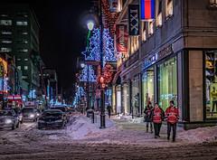 _1060156-Game Night (montrealmaggie) Tags: street winter snow game hockey night canadian