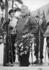 Seattle mayor John Dore at opening of Snoqualmie Ski Park, 1934 (Seattle Municipal Archives) Tags: seattle 1930s skiing snoqualmie seattlemunicipalarchives