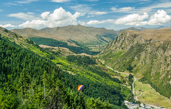 Down in the valley... (Scottmh) Tags: new travel blue sky clouds pacific peak christine zealand queenstown coronet