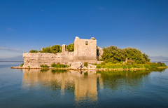 Grmožur Fortress (ccr_358) Tags: blue summer panorama lake abandoned water reflections landscape lago island nikon ruins scenery day estate view blu postcard lac sunny august prison agosto balkans polarizer acqua fortress riflessi paesaggio cartolina montenegro isola fortezza 2014 prigione balcani crnagora jezero lakescape skadarskojezero polarizzatore lakeskadar skadar southeasterneurope језеро d5000 lagodiscutari црнагора скадарскојезеро ccr358 grmozur liqeniishkodrës lakeshkoder nikond5000 skadarnationalpark lakeskadarnationalpark parconazionaledellagodiscutari grmozurfortress