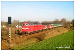 Obersdorf - 219 192-2 (olherfoto) Tags: railroad train dr eisenbahn rail railway trains bahn uboot diesellok deutschereichsbahn ostbahn br219