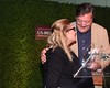Stephen Fry presents to Carrie Fisher