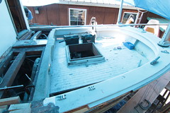 IMG_3958 - Port Hadlock WA - Northwest School of Wooden Boatbuilding - 2013 Repair and Restoration - HOBO - aft deck and step (BlackShoe1) Tags: wood port boat washington olympicpeninsula wash pacificnorthwest wa jefferson woodenboat washingtonstate hobo woodboat boatrepair countyeast porthadlockwa boatwooden hobohobohobo hadlockjefferson countymv repairwood tugwoodtug