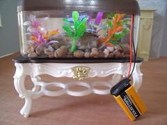 Playscale Aquarium 2 of 2 (suekulec) Tags: lights aquarium doll furniture battery gloria 16 diorama playscale