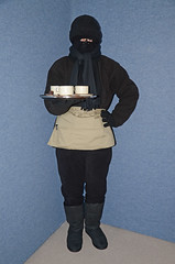 Slave waitress fleece sweat torture (Buses,Trains and Fetish) Tags: hot girl warm coat hijab torture sweat waitress fleece niqab maid anorak slave snowsuit burka chador