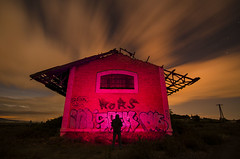 """No wings to fly"" (Santi Salinas) Tags: nightphotography lightpainting alone nocturna navarra abandonedplaces largaexposicin"