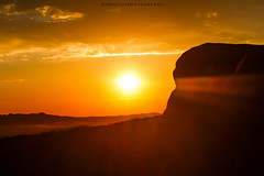 As The Sun Goes Down (Morpheus Photography) Tags: park travel light sunset red summer sky orange usa sun mountain beautiful fog clouds rocks arches national