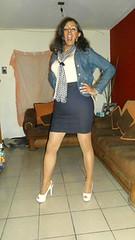 Tight Skirt/Faldas Ajustadas (jenylopez18) Tags: woman black dress body skirt crossdressing tgirl transgender denim tight crossdresser tg travesti sexywoman crossdresing womanshape jenylopez18