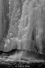 Iceland 2016-139 (LionOfJudah13) Tags: iceland2016 waterfalls ice frozen blackandwhite