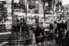 Shibuya night (Masaki_RR) Tags: street city longexposure people blackandwhite bw monochrome japan night lights tokyo blackwhite cityscape nightscape darkness shibuya streetphotography sigma nightlight shibuyacrossing foveon nightimage dp2merrill