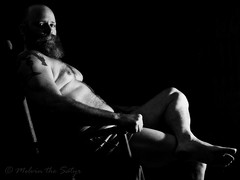 This being Portrait 121 of 156 (=Melvin the Satyr=) Tags: portrait beard seated barechest