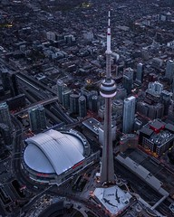 (Jazzy Vibes) Tags: travel toronto canada photography fly nikon downtown cntower baseball stadium aviation skydome bluejays bluehour fullframe uphigh photoworld visittoronto