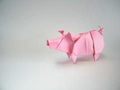 Chancho sin chaleco - Patricio Kunz (Rui.Roda) Tags: pig origami sin cochon papiroflexia patricio cerdo porco chancho kunz chaleco papierfalten