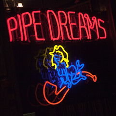 Pipe Dreams (Jeremy Brooks) Tags: sanfrancisco california people woman usa person neon pipe haight thehaight sanfranciscocounty haightashburydistrict