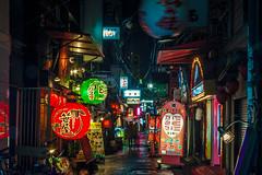 Ghosts of Osaka (Arutemu) Tags: street city light japan night canon asian japanese lights lowlight asia nightscape nightshot ciudad scene nighttime citylights   osaka nightview lantern kansai  japonesa japon japones  nightstreet japonais       japonaise    eos50d