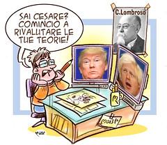 La versione del Lombroso (Moise-Creativo Galattico) Tags: trump vignette satira attualit moise giornalismo lombroso borisjohnson editoriali moiseditoriali editorialiafumetti