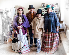 Followers of Fashion (TheGrumpyBear) Tags: england history museum port river mine victorian tourist quay historic copper morwellham