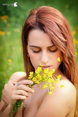 Walking in Spring (TsukiUsagi Photo) Tags: flowers sun verde green girl yellow yard walking photo spring model giallo campo fiori sole tsuki prato usagi giulia ragazza valentina modella gialli allaperto bevilacqua baldin migiandone