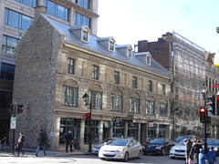 Montreal. The old quarter. Houses and inns from the 1770s period.  Quaint and in the French style. Building is now a Starbucks cafe. (denisbin) Tags: old hall starbucks oldmontreal oldtown oldquarter vieuxquartier montrealtown