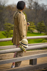 Incognito (Explored - June 16, 2016 #131) (marionchantal) Tags: bridge boy usa hat illinois spring child candid mother son explore glencoe anonymous japanesegardens strawhat chicagobotanicgardens incognito 2016 explored 180300mm nikond7200